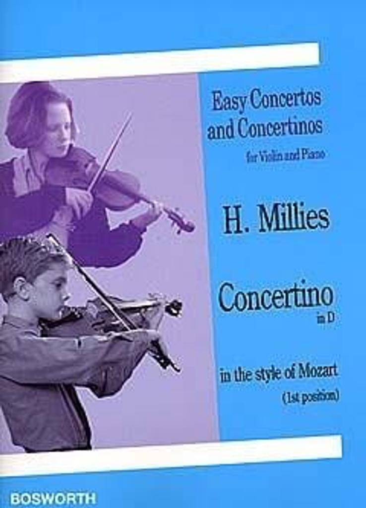 Concertino in D in the style of Mozart : First Position / Hans Millies |